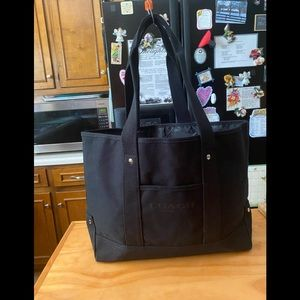 Coach Black Shopper,Beach Bag Tote NWOT